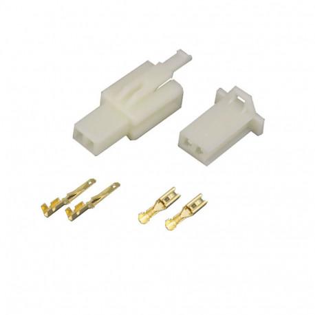 2 Pin (Set) 2.8mm connector plug