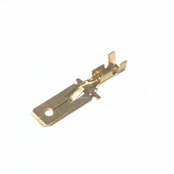 Male spade cable wire terminals 6,3mm