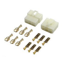 6 Pin (Set) 6.3mm connector plug
