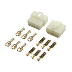 6-vejs Multistik-sæt m/stikben (6.3mm)
