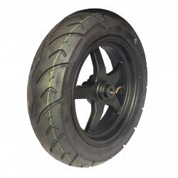 Dæk 130/70-12 (forhjul) incl. fælge