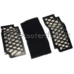 Air filter plate with sponge