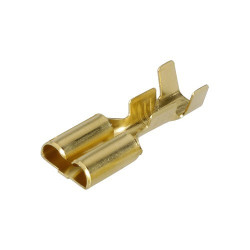 Female spade cable wire terminals 6,3mm