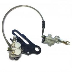 Hydraulic rear brake system