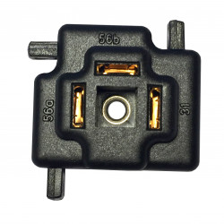 H4 bulb connector with snap lock